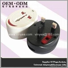 全球通旅行轉換插座(USB2.0)白加黑組合