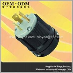 NEMA L6-20P Locking Plug