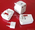 All in one plug adapter + USB Socket