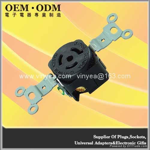 NEMA L6-15R Locking Connector