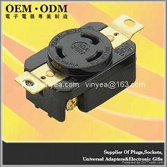 NEMA L6-30 Locking Receptacle