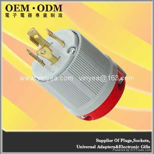 NEMA L15-30 Locking Plug