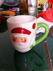 Ceramic mug for Xmas decoration