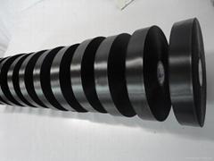 High Quality PU coating Polyster Taffeta Label Ribbon
