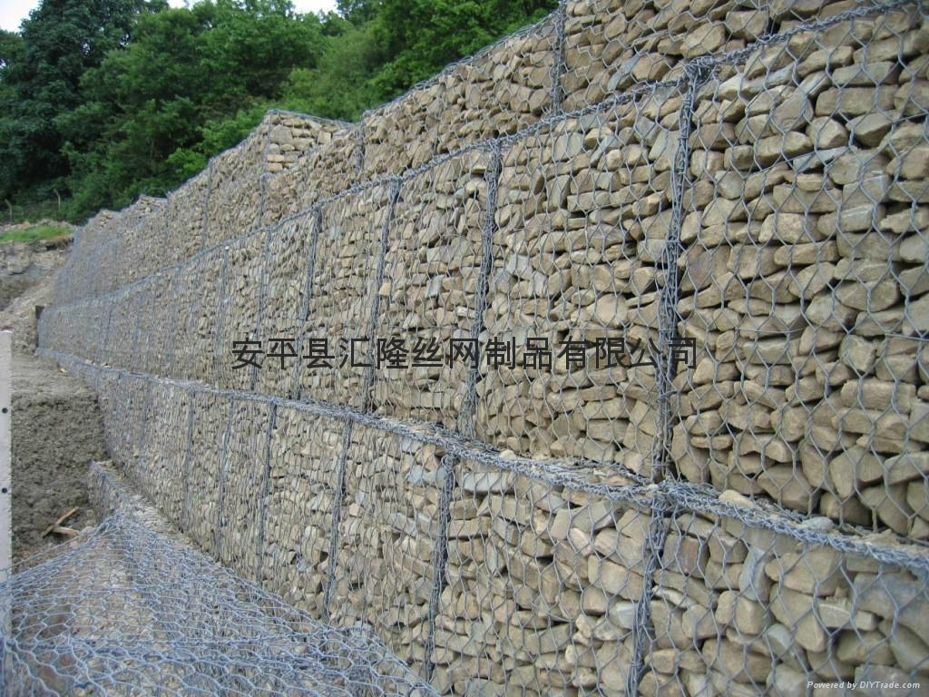 Gabions sl 01 hl369 china manufacturer wire mesh Gabion wall design