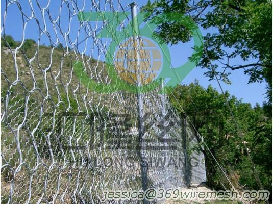 Rockfall Protection system, slide control fence