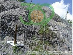 Spider Spiral Rope Nets, Rockfall Drapes System