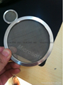 customed stainless steel wire mesh filter disk/disc