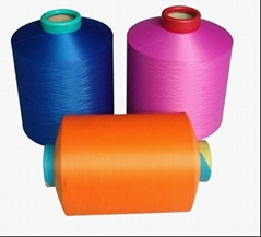 Colored polyester low elastic yarn 300D / 288F DTY for plush products