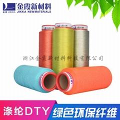 有色涤纶低弹丝---色织布