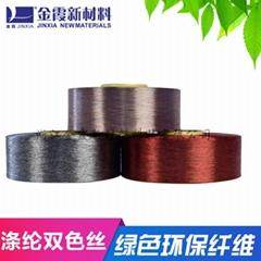 環保再生滌綸色絲50D到1000D用途廣氾