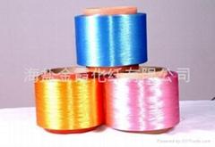 Colorful dream colored silk composite polychromatic silk