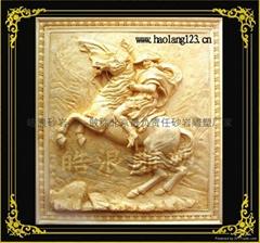 北京拿破侖歐式人造砂岩浮雕壁畫
