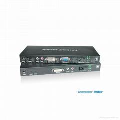 创威视EVO-1VA VGA视音频光端机带音频麦克风单模单芯