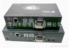 KVM键盘鼠标视频信号带串口延长器