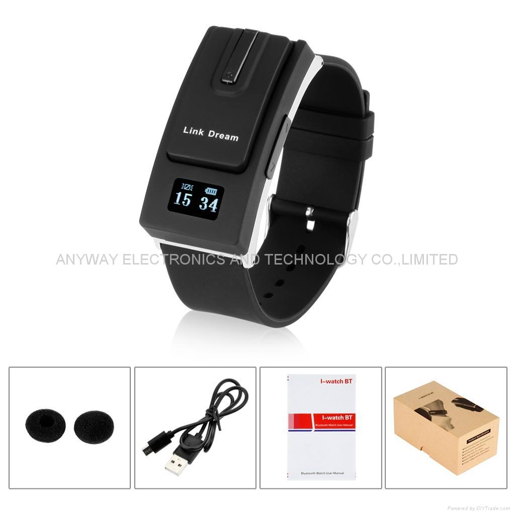 Bluetooth Headset smartband Sport Watch Bracelet Earphone wristband call vibrati