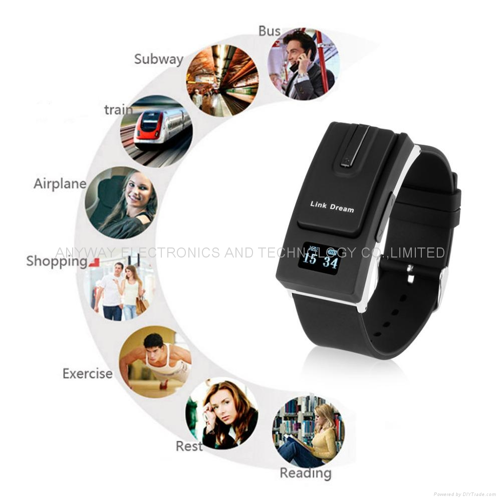 Bluetooth Headset smartband Sport Watch Bracelet Earphone wristband call vibrati 2