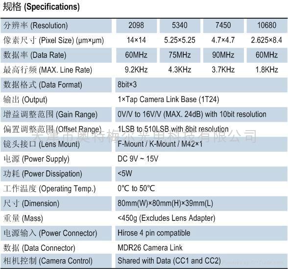 彩色三線陣線掃描CCD工業相機 3