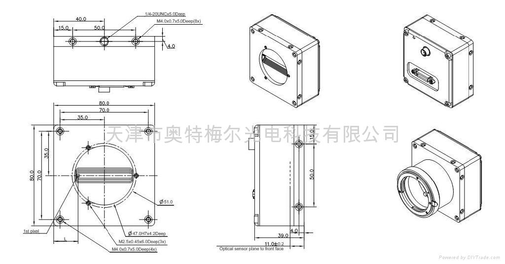 彩色三線陣線掃描CCD工業相機 5