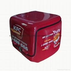 高檔防水139L送餐箱配送箱電動車後備箱保溫箱熟食運輸送貨箱尾箱