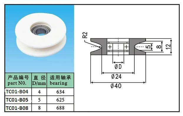 Textile Ceramic Wire Guide Pulley(ceramic Wheel),Ceramic