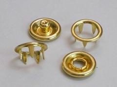 無叻電鍍金色#333-10mm圈面五爪鈕