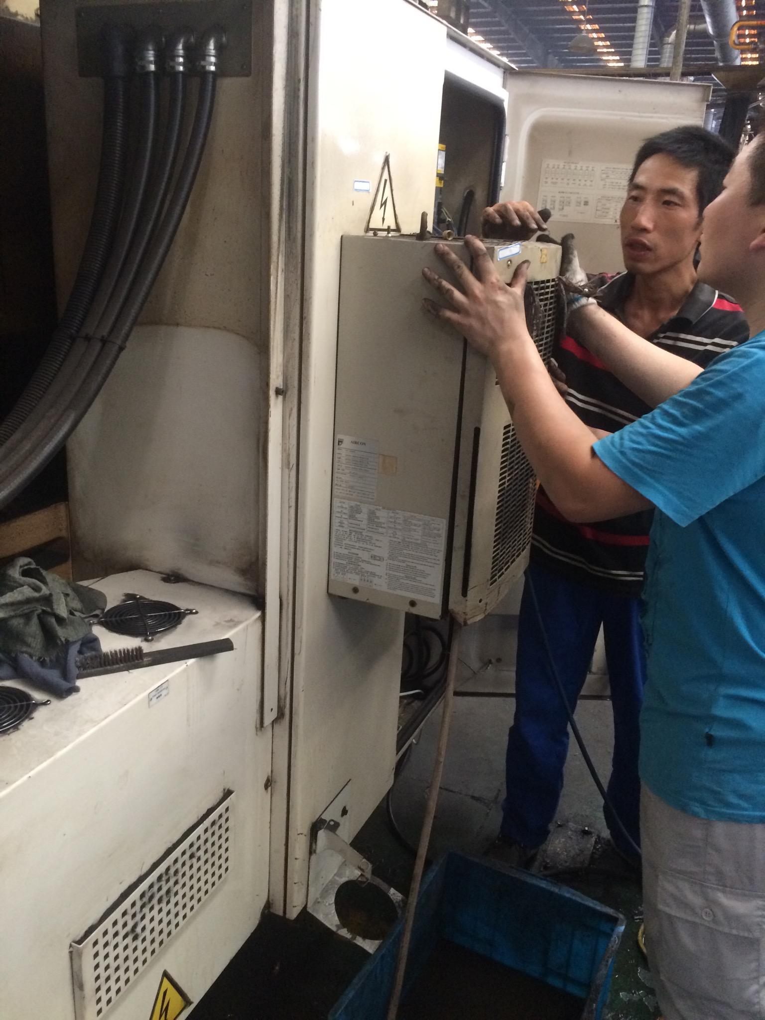 工業機櫃空調維修保養改造 2