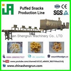 Twin screw snacks food production line
