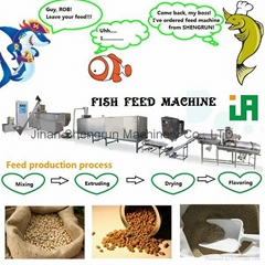 puffed fish food extruder