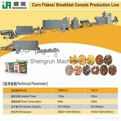 Corn Flakes Breakfast Cereals Production Machine Line Shengrun Machinery