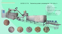 Texured soy protein processing line