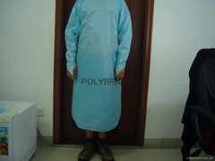Disposable CPE surgical gown