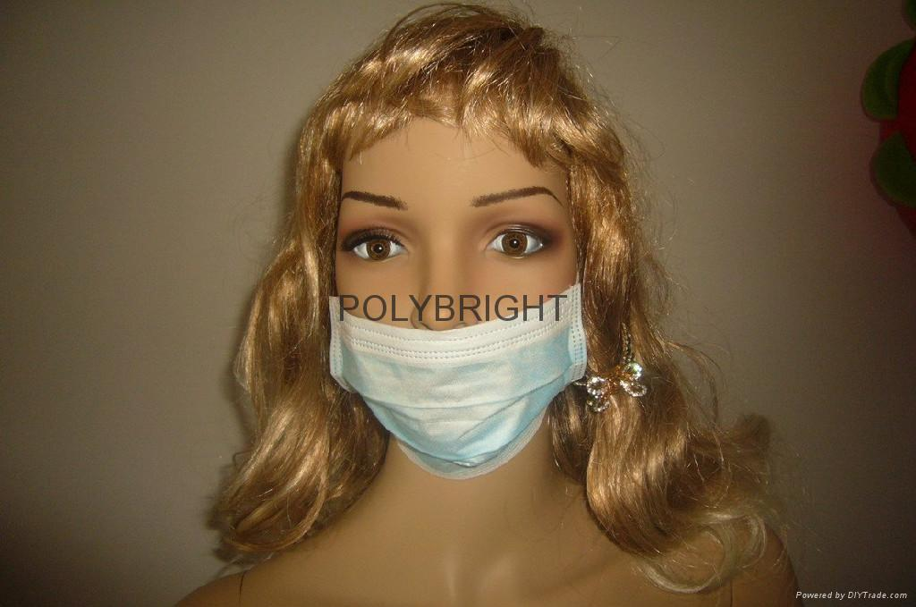 Disposable Non-woven caps,dust mask & 2- or 3-layer face mask 1
