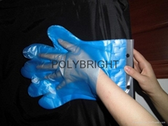 disposable LDPE gloves easy-putting on