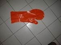 Disposable PE glove adhere to the PE bags for pets  2
