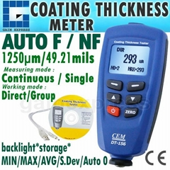 Paint Coating Thickness Meter Gauge F/NF