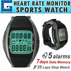 Heart Rate Monitor Wireless Chest Strap Watch Fitness Belt Sport