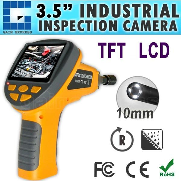 """Industrial 3.5"""" LCD Video Inspection Endoscope w/ 180° Rotation 1"""