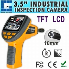 "Industrial 3.5"" LCD Video Inspection Endoscope w/ 180° Rotation"