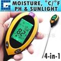 4-in-1 Soil Survey Instrument ( pH °F / °C moisture sunlight )