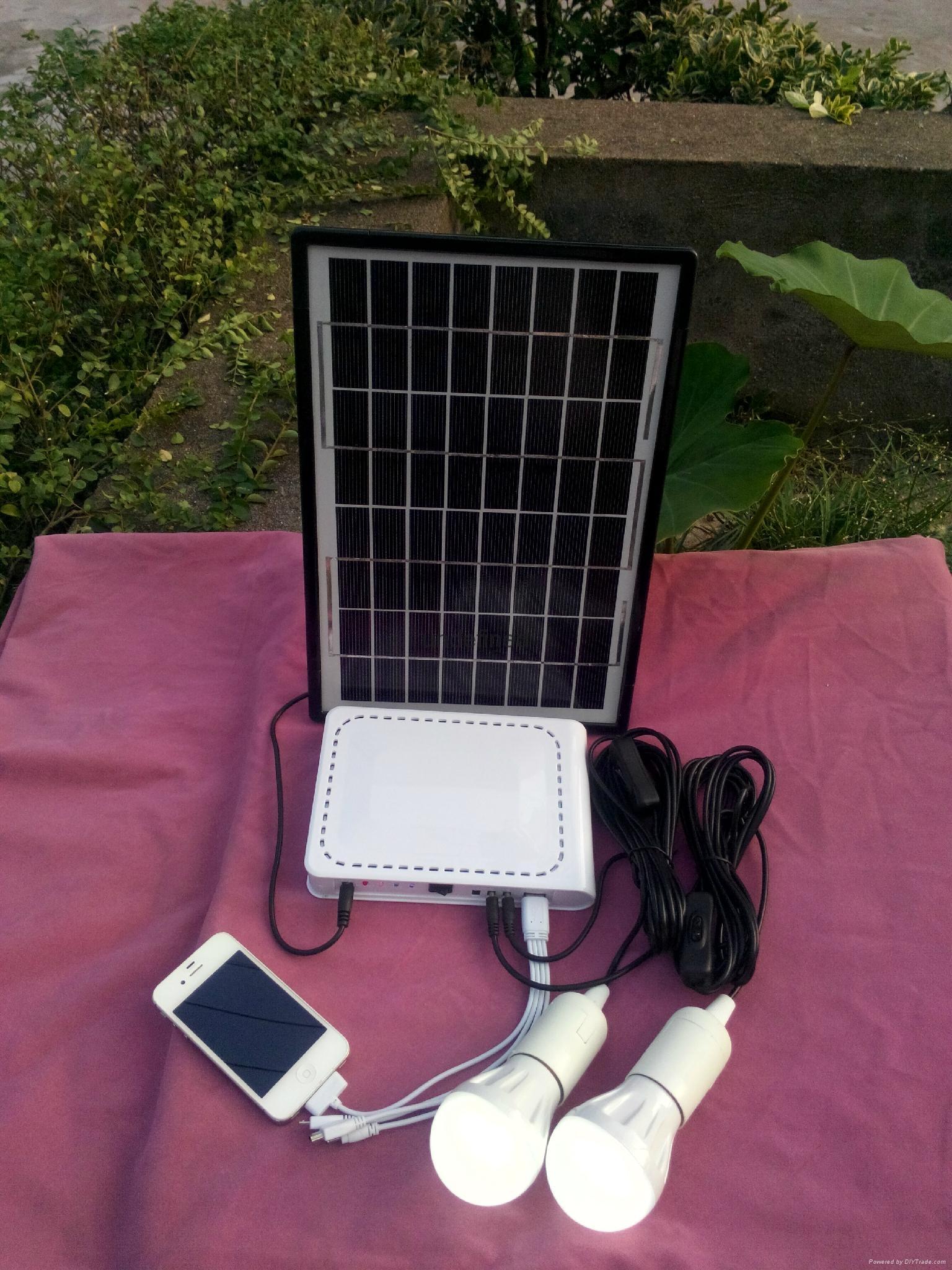 锂电池太阳能发电照明系统 1