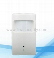 PIR Motion Sensor + Built-in Camera + Mini DVR + Wireless Alarm System
