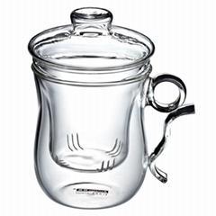 玻璃三件套杯 玻璃茶壺