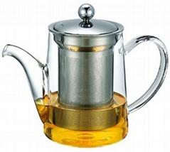 玻璃泡茶壶带不锈钢滤网