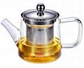 玻璃泡茶壶带不锈钢滤网 4