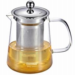 玻璃泡茶壶 不锈钢滤网泡茶壶