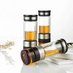 邦田M8耐高溫便攜式雙層玻璃杯
