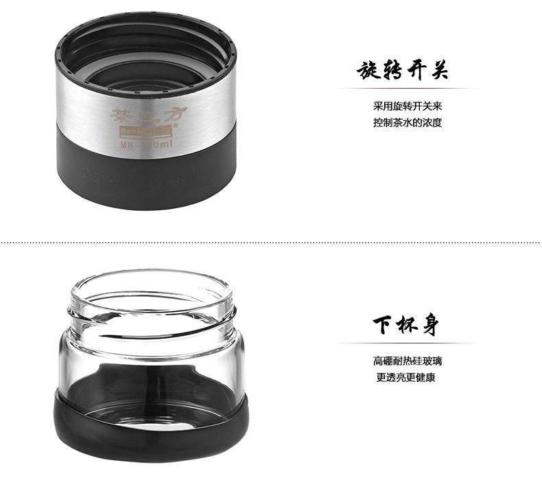 邦田M8耐高温便携式双层玻璃杯 4