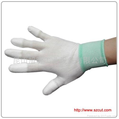 PU Finger Coated Gloves