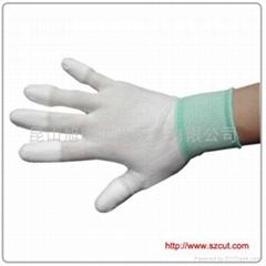 PU Finger Coated Gloves